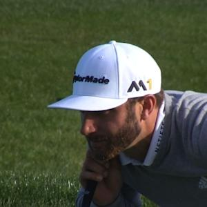 Dustin Johnson hits it close for birdie at AT&T Pebble Beach