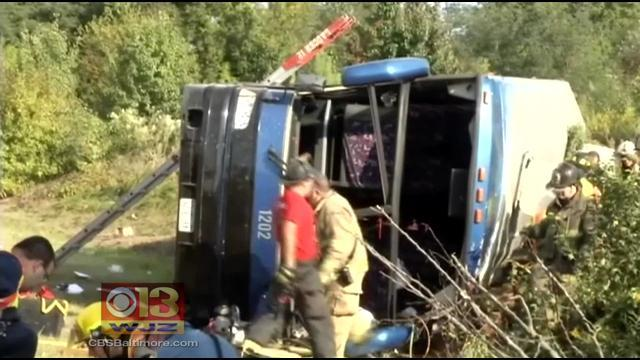 Bus Carrying D.C. Tourists Overturns In Del., Killing 2 And Injuring Several
