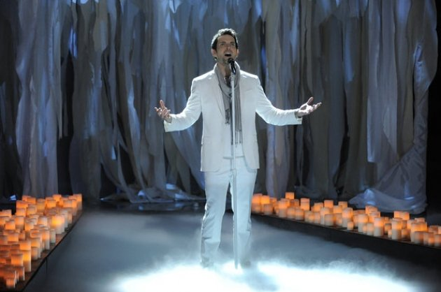 Chris Mann performs on 'The Voice,' April 30, 2012 -- NBC