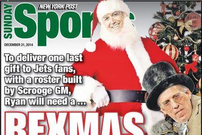 NY Post back page is praying for a Jets 'Rexmas Miracle'