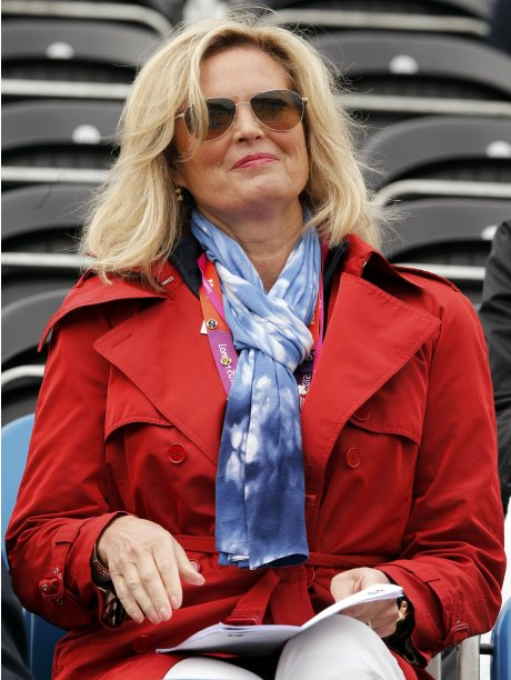 Ann Romney, wife of U.S. Republican presidential candidate Mitt Romney, attends the equestrian dressage individual grand prix special at the London 2012 Olympic Games in Greenwich Park