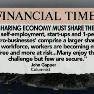 Self-Employed Share the Risks of Sharing Economy