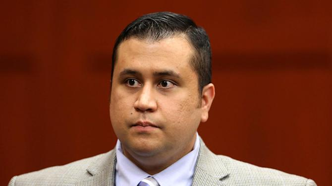 George Zimmerman sits Seminole circuit court on the third day of his trial, in Sanford, Fla., Wednesday, June 12, 2013. Zimmerman is accused in the fatal shooting of Trayvon Martin. (AP Photo/Orlando Sentinel, Joe Burbank, Pool)