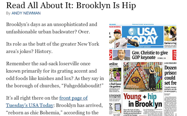 The New York Times Won't Give Up Brooklyn to USA Today