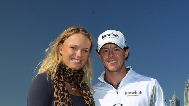Rory McIlroy Of Northern Ireland With His Girlfriend Caroline Wozniacki Of Denmark The World's Number One Female Getty Images