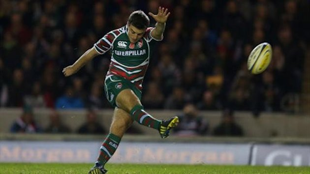 Leicester Tigers' George Ford kicks a penalty (PA)