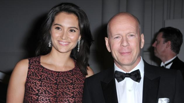 Emma Heming and Bruce Willis arrives at The Weinstein Company and Realativity Media's 2011 Golden Globes after party held at Bar 210 inside The Beverly Hilton hotel in Beverly Hills, Calif. on January 16, 2011 -- FilmMagic