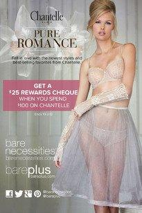 Get Paid to Shop at Bare Necessities! Get a $25 Rewards Cheque When You Spend $100 on World Famous Lingerie Brand, Chantelle