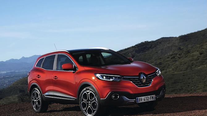 The undated photo provided by Renault media services shows the new SUV Kadjar which will have its world premiere at the Geneva International Motor Show that is open to the public from March 5 through 15.  (AP Photo/Renault)