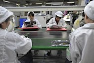 <p>Chinese workers in the Foxconn factory in Shenzhen, in southern China's Guangdong province. China Labor Watch reported that other Apple suppliers had treated their staff worse than Foxconn, which has received the most attention.</p>