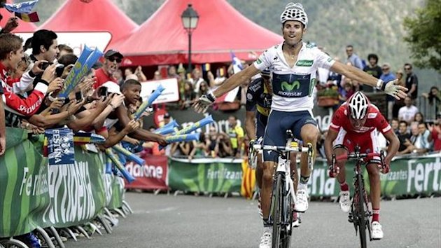 Alejandro Valverde gana la octava etapa de La Vuelta