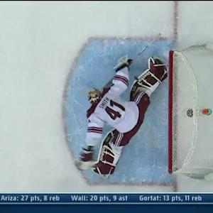 Mike Smith goes full splits for OT save