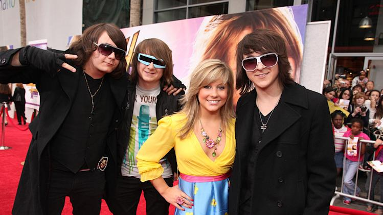 The Hannah Montana Movie LA premiere 2009 Shawn Johnson Mitchell Musso
