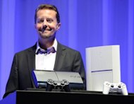 <p>President and group CEO of Sony Computer Entertainment Andrew House introduces the new PlayStation 3 during a press conference in Tokyo.</p>