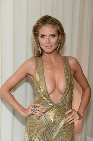 Heidi Klum attends the 21st Annual Elton John AIDS Foundation Academy Awards Viewing Party at Pacific Design Center, West Hollywood, on February 24, 2013 -- Getty Images