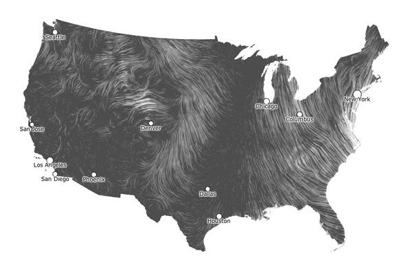 A Stunning Map of Hurricane Sandy's Winds