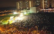Bird's eye view of the crowd at WP's Punggol East Rally