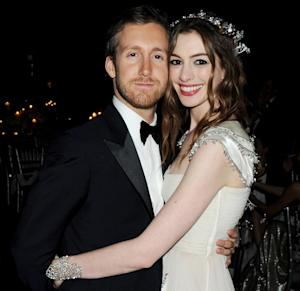 Adam Shulman & Anne Hathaway attend The White Fairy Tale Love Ball at the Chateau de Wideville on July 6, 2011 in Paris, France  -- Getty Images