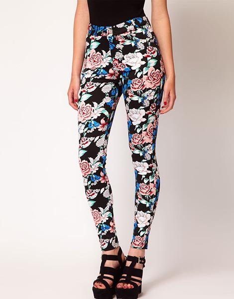 Motel Jordan Jean in Eastern Floral, $102.02 at Asos.com
