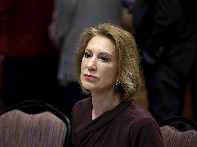 Carly Fiorina, Republican presidential candidate, looks on at the Southern Republican Leadership Conference in Oklahoma City, Oklahoma May 23, 2015.  ...