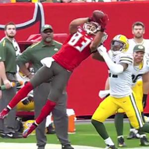 Tampa Bay Buccaneers wide receiver Vincent Jackson's 40-yard leaping grab