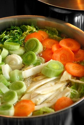 Make soup from scratch
