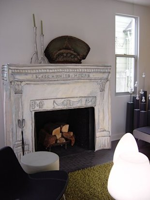 Fireplace slipcover