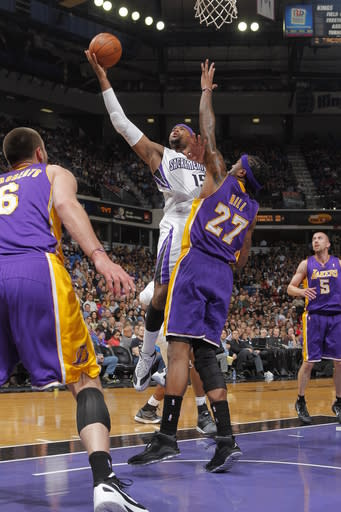 Kings beat resting Lakers 113-96 in season finale