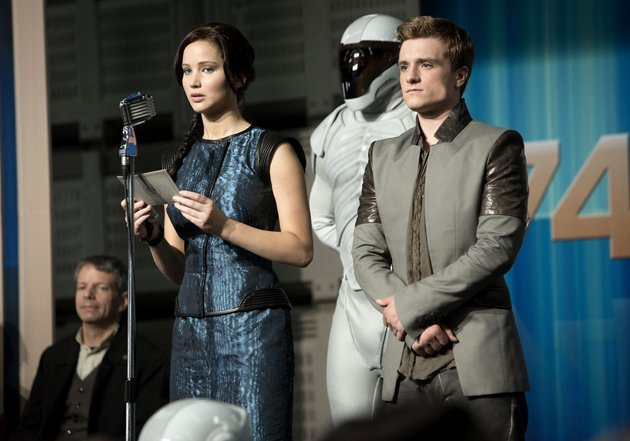 Jennifer Lawrence and Josh Hutcherson in 'Catching Fire'