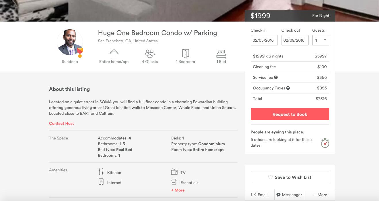 Airbnb hosts are having a hard time gouging guests for the Super Bowl
