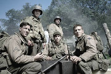 Edward Burns , Giovanni Ribisi , Tom Sizemore , Adam Goldberg and Barry Pepper in Dreamworks' Saving Private Ryan