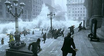 New Yorkers try to escape the floods in 20th Century Fox's The Day After Tomorrow