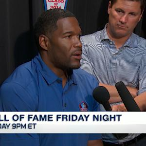 Michael Strahan on Pro Football Hall of Fame induction: 'Don't be an ugly crier'