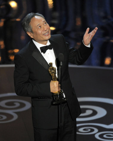 Ang Lee accepts the award for best directing for &quot;Life of Pi&quot; during the Oscars at the Dolby Theatre on Sunday, Feb. 24, 2013, in Los Angeles. (Photo by Chris Pizzello/Invision/AP)