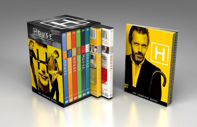 This product image released by NBCUniversal shows the DVD collection for &quot;House: The Complete Series.&quot; The collection includes 41 discs with all 176 episodes, plus a 24-page souvenir booklet. (AP Photo/NBCUniversal)