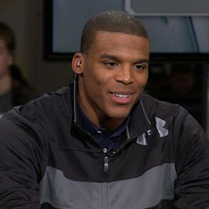 'Super Bowl XLVII Live': Carolina Panthers quarterback Cam Newton sit down