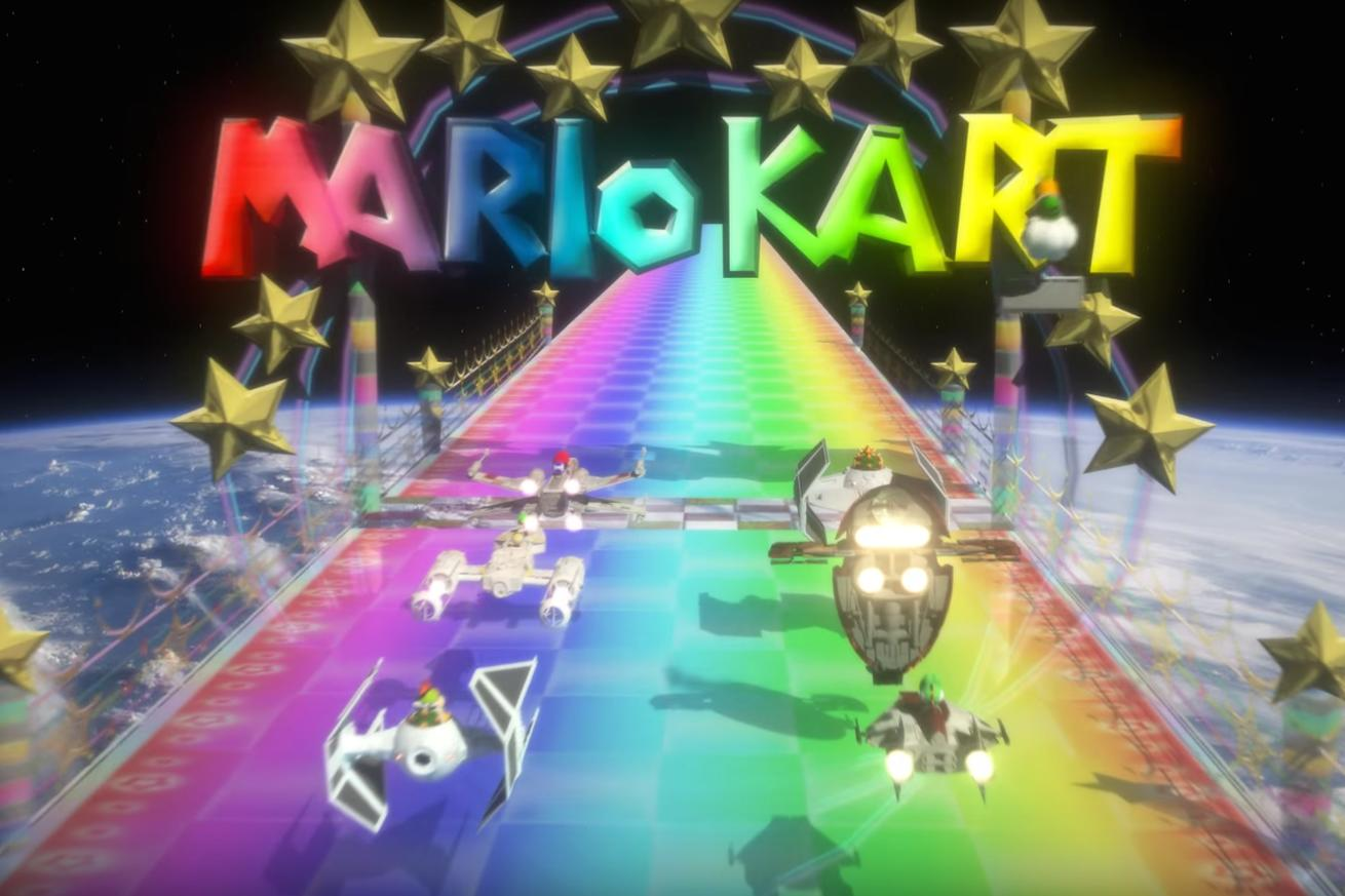Watch Star Kart combine Star Wars and Mario Kart for fantastic hyperspace racing
