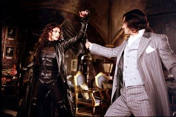 Peta Wilson as the vampire Mina Harker and Stuart Townsend as the immortal Dorian Gray in 20th Century Fox's The League of Extraordinary Gentlemen
