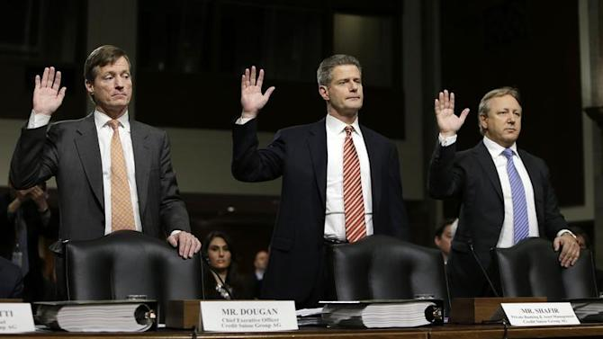 Credit Suisse officials are sworn in at Senate Homeland and Governmental Affairs Investigations Subcommittee