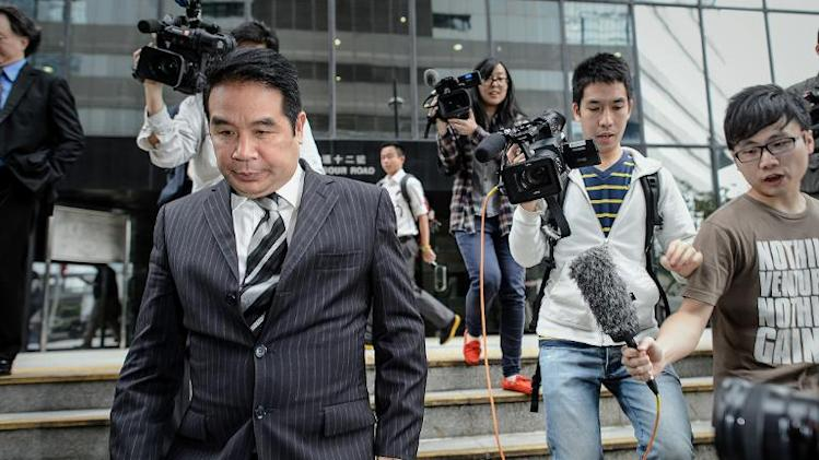 Birmingham City owner Carson Yeung, seen here leaving a Hong Kong court on 29 April 2013, has been sentenced to six years in jail for laundering $93 million