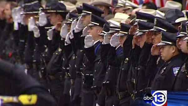 Fallen officer's funeral unites police, community