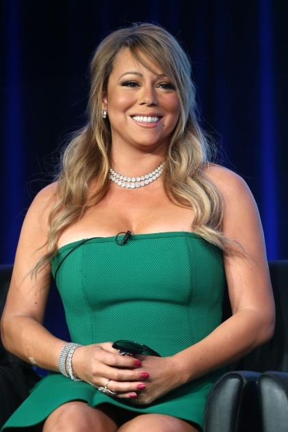 Mariah Carey of 'American Idol' speaks onstage during the FOX portion of the 2013 Winter TCA Tour at Langham Hotel on January 8, 2013 in Pasadena, Calif. -- Getty Images