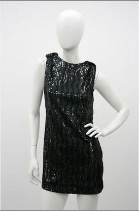 Whitney Eve Sequin Dress in Black - $450.00