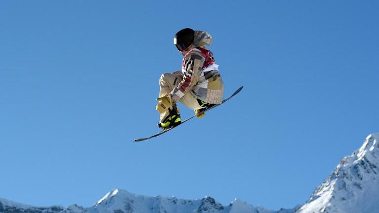 Sage Kotsenburg competes in the Men's Snowboard Slopestyle Semi-Finals at the Rosa Khutor Extreme Park in Sochi on February 8, 2014