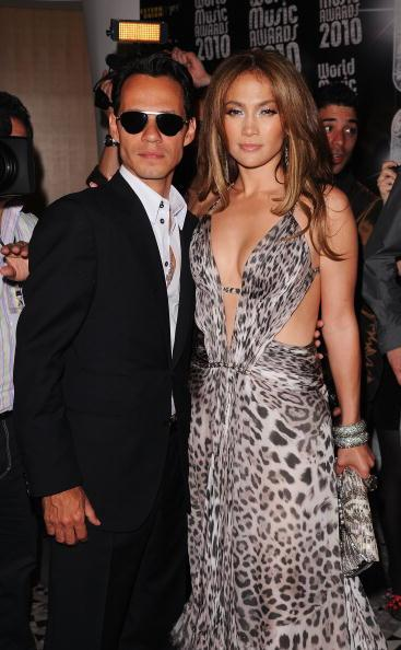 Jennifer Lopez and Marc Anthony at the World Music Awards in May 2011