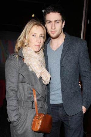 Sam Taylor-Johnson and Aaron Taylor-Johnson attend an after party following the press night performance of 'Old Times' at the Mint Leaf on January 31, 2013 in London -- Getty Premium