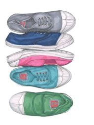 Cotton sneakers, $55 each, Bensimon, bensimonusa.com