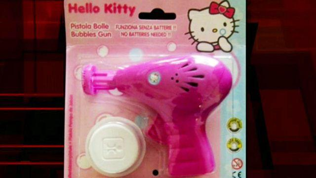 Girl suspended for making threat with Hello Kitty bubble gun