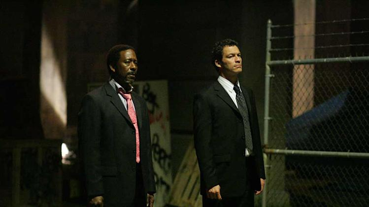 Clarke Peters and Dominic West in The Wire.