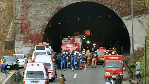 At Least 8 People Dead After Japanese Highway Tunnel Collapses (ABC News)